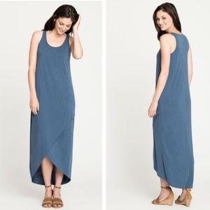Nic and Zoe blue boardwalk stretch midi dress